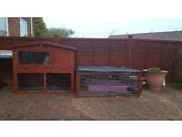 2 Storey rabbit hutch & built on run