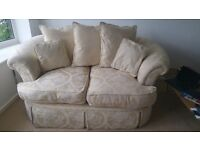 Beautiful 4 seat & 2 seat sofa's with Pouffe in fab condition. Smoke free home. Viewings welcome.