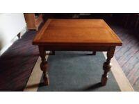 Oak extendable family dining table