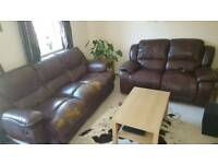 Recliner sofa set, 3 seater+ 2 seater