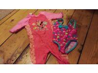 Pink swim suits