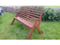 BRAND NEW handmade garden bench