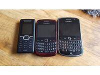 3x mobile phones spares or repairs