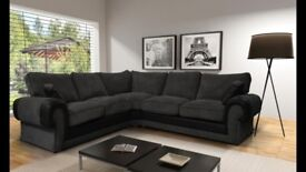 BRAND NEW tango corner/ 3 & 2 FAUX LEATHER & FABRIC CORNER SOFA , NOW AVAILABLE