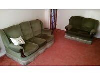 three seater and two seater sofas, very good condition .