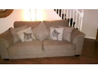 3 seater Sofa and charis