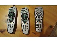 3 Sky Plus Remote Controls (£3 each)
