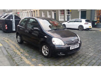 2005 TOYOTA YARIS COLOUR COLLECTION 3DR, 2 OWNRS, 1.3, 60MPG, FULL HISTORY, MOT JULY 17, 97K