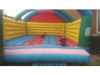 18ft x 15ft Adult/Kid's Multi colour triple arched Bouncy Bouncing inflatable Castle.