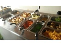 carvery unit with gatronomes and lids. warming cabinet does not work. collection onkly