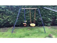 Dual kids swing set