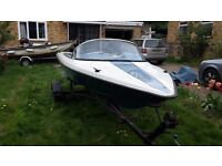 14' Speedboat unfinished project with trailer.