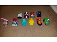 paw patrol vehicles with figures like new