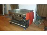 used commercial coffee machine latte etc rancilo 3 phase power supply