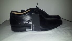 M&S Autograph BLACK Leather lace-up formal business shoes TO3/1277A UK 10.5