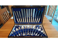 50 piece silver plated cutlery canteen