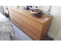 Chest of draws and two bedside cabinets