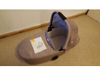 Joie Chrome Carrycot ONLY with mattress, hood, apron and raincover included. Excellent condition.
