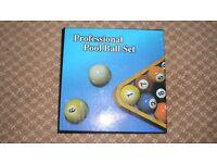 Professional Pool balls set