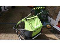 Double croozer bike trailer/jogger/pushchair.
