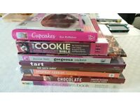 Selection of chocolate & Baking books