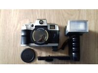 Olympia DL- 1010 35mm film camera with flash and case