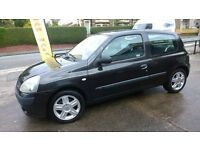 Renault Clio , 2005 model very economical, 12 Months MOT remote Very Clean Inside only £700