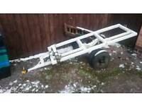Heavy duty 4 wheel towing dolly.