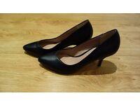 Black Dune heels/stiletto size 8, worn once