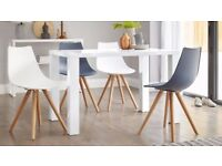 Brand New Danetti Fern Stylish & Contemporary White Gloss 4 Seater Dining Table L120cm
