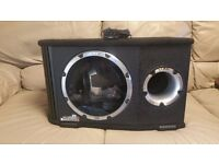 CAR ACTIVE SUBWOOFER VIBE 1500 WATT 10 INCH BAND BASS BOX WITH BUILD IN AMPLIFIER SUB WOOFER AMP