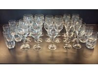 Large Collection Of Rennie Mackintosh Glasses - Glencairn Crystal