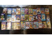 36 childrens vhs videos Films / Nursery rhymes (some rare/ collectible)