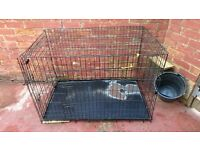 Large Dog Cage {double door}