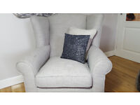 Grey winged back Armchair