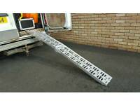Motorcycle ramp, aluminium folding.