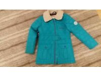 Nearly new 3-4 year old Regatta turquoise coat