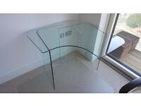 Office/Computer 3-piece adjustable Glass Table