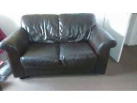 CHEAP, 2 Chocolate faux leather couches