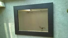 Framed wall mirror by Homebase