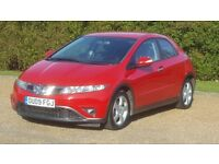 HONDA CIVIC SE CTDI 09PLATE 2009 FACELIFT 2P/OWNER 102000 MILES FULL SERVICE HISTORY AC 6SPEED ALLOY