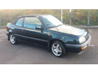 1998(R)VOLKSWAGEN GOLF 1.8 CABRIOLET MET GREEN,GOOD RUNNER,21/5/2018 MOT,SPARES OR REPAIRS