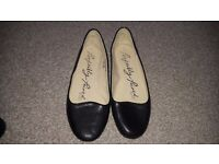 Flat black shoes from next, size 5