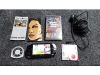 Sony PSP, PSP-1003, Black, 8GB Memory Card, GTA Liberty City Stories UMD, Emulators