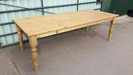 Farmhouse Pine Table - 8ft long - Any Size Made - Delivery Available