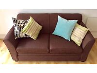 2 seat Brown Sofa *Low cost Delivery
