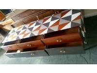 Retro vintage sideboard and matching nest of tables