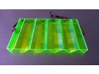 4 x Green Perspex Edge Glow Doughnut Donut or Ice Cream Trays with strap – BEAUTIFUL & FUN!