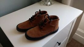 Next Boys Tan Boots Infant 10 Brand New