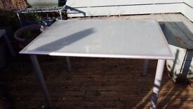 Ikea frosted glass desk/table